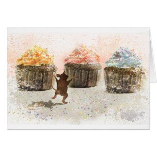 Alegría de la magdalena tarjeta de felicitación