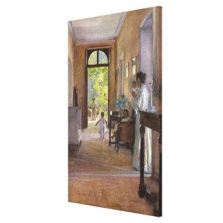 Alegría de la mañana lienzo envuelto para galerías