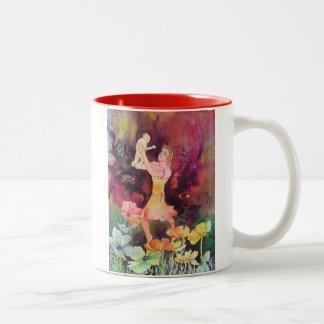 Alegría de la maternidad taza de café