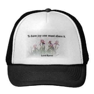 Alegría de la parte gorra