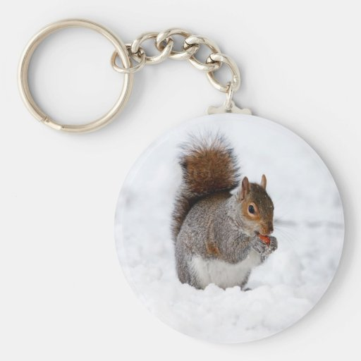 alegría de la paz de la nieve de la ardilla llavero
