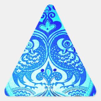 Alegría de la paz de los amantes del pájaro calcomanías de trianguladas