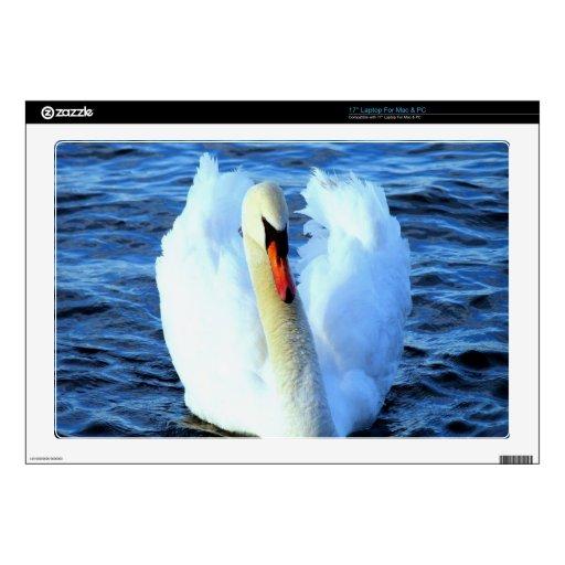 alegría de la paz del agua del cisne 43,2cm portátil calcomanías