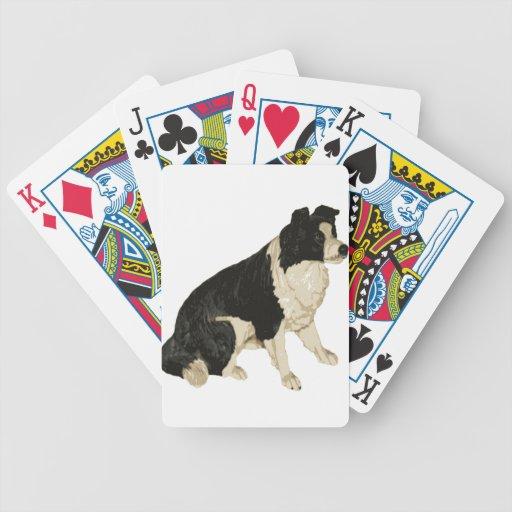alegría de la paz del perro baraja de cartas