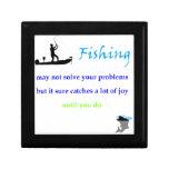 alegría de la pesca caja de recuerdo