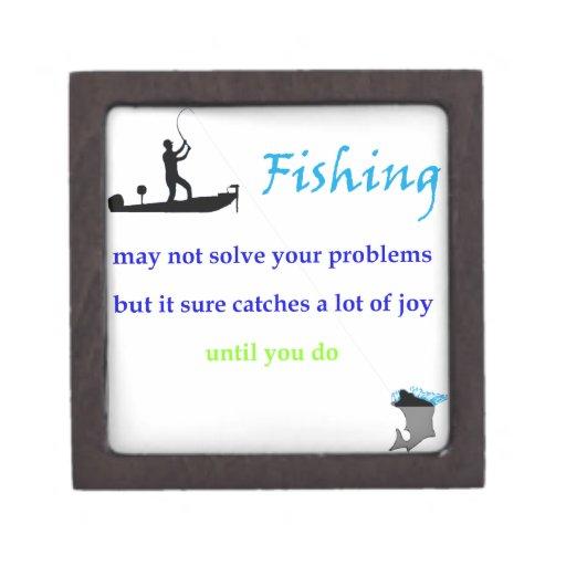 alegría de la pesca cajas de recuerdo de calidad
