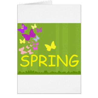alegría de la primavera tarjeta de felicitación