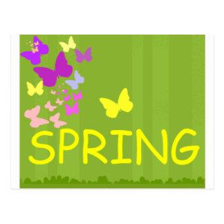 alegría de la primavera tarjetas postales
