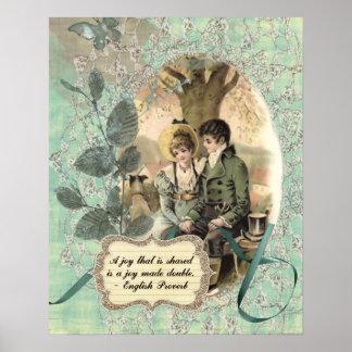 Alegría de la regencia póster