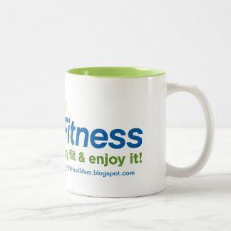 Alegría de la taza de café de la aptitud