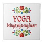 Alegría de la yoga azulejos