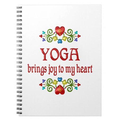 Alegría de la yoga libro de apuntes con espiral