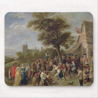 Alegría de los campesinos, c.1650 (aceite en lona) alfombrilla de ratones