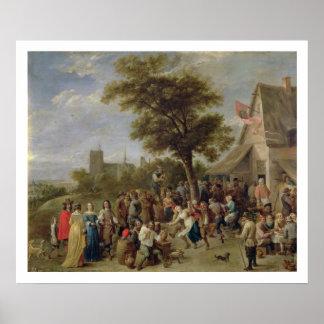 Alegría de los campesinos, c.1650 (aceite en lona) póster