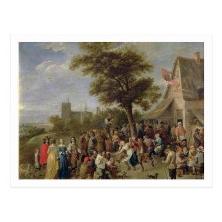 Alegría de los campesinos, c.1650 (aceite en lona) tarjeta postal