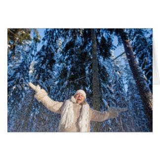 Alegría de los inviernos felicitación