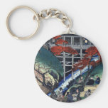 Alegría debajo de árboles de arce, Hiroshige Llavero Personalizado