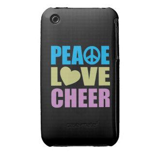 Alegría del amor de la paz carcasa para iPhone 3