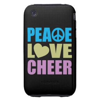 Alegría del amor de la paz carcasa resistente para iPhone