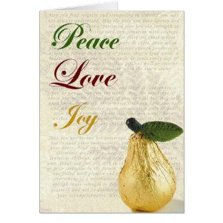 Alegría del amor de la paz de la tarjeta de Navida