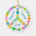 Alegría del amor de la paz ornamentos para reyes magos