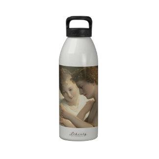 Alegría del amor de la paz del Cupid y de la psiqu Botella De Agua