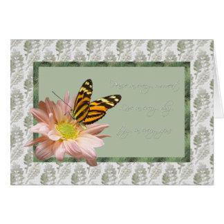 Alegría del amor de la paz del ~ de la mariposa de tarjeta de felicitación