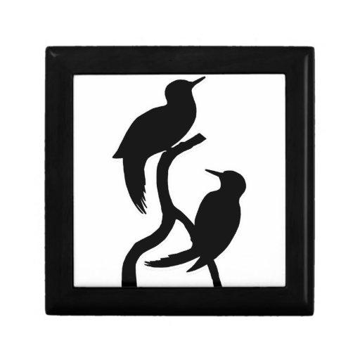 alegría del amor de la paz del pájaro cajas de joyas