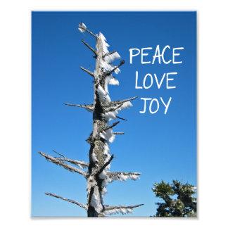 Alegría del amor de la paz - deseo simple del día arte con fotos