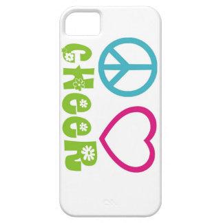 Alegría del amor de la paz funda para iPhone 5 barely there
