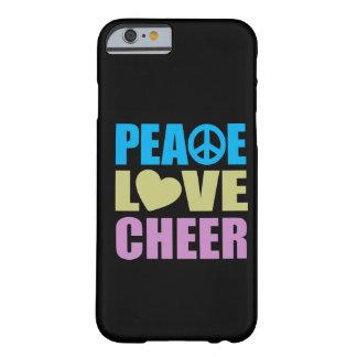 Alegría del amor de la paz funda para iPhone 6 barely there