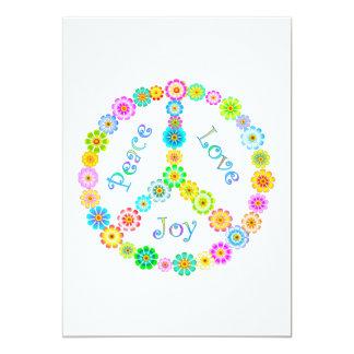 Alegría del amor de la paz invitación 12,7 x 17,8 cm
