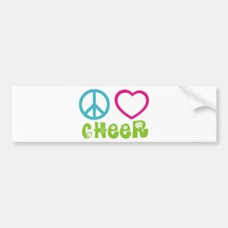 Alegría del amor de la paz pegatina para auto