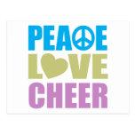 Alegría del amor de la paz postales
