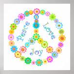 Alegría del amor de la paz poster