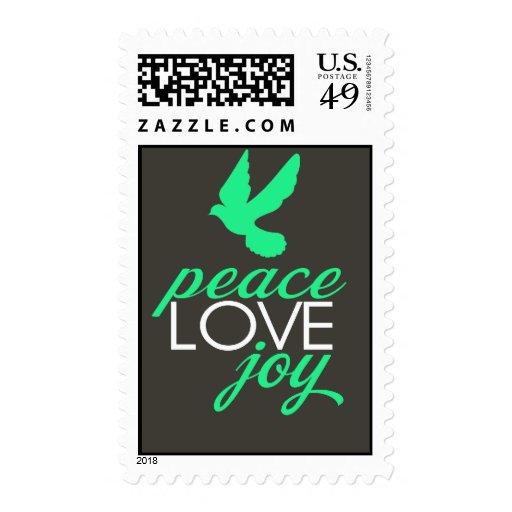 Alegría del amor de la paz sello