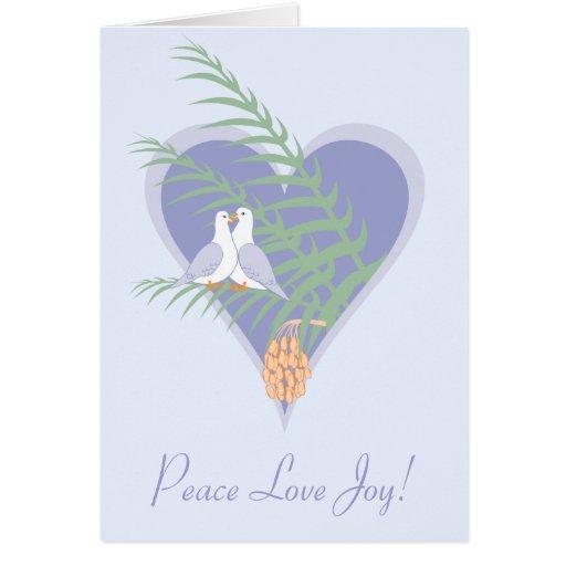 Alegría del amor de la paz - tarjeta de felicitaci