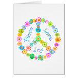 Alegría del amor de la paz tarjetas