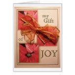 Alegría del arco del navidad tarjeta pequeña