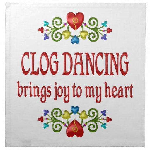 Alegría del baile de estorbo servilletas