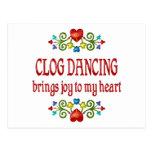Alegría del baile de estorbo tarjetas postales
