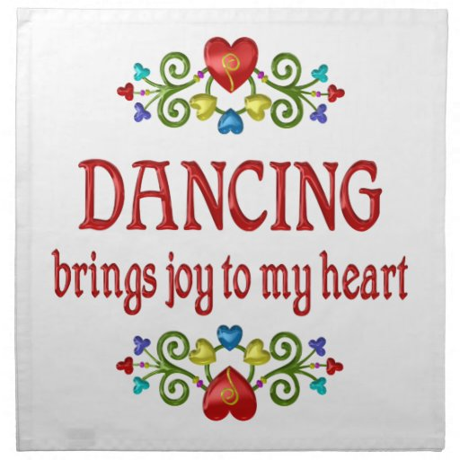 Alegría del baile servilletas de papel