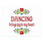 Alegría del baile tarjeta postal