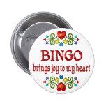 Alegría del bingo pins