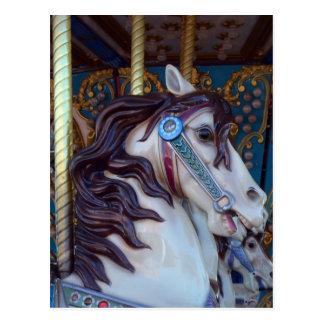Alegría del caballo del carrusel postales