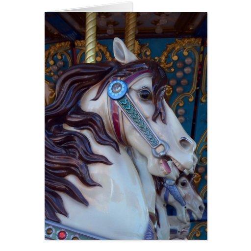 Alegría del caballo del carrusel tarjeta de felicitación