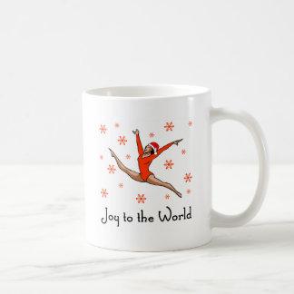 Alegría del gimnasta al mundo taza de café