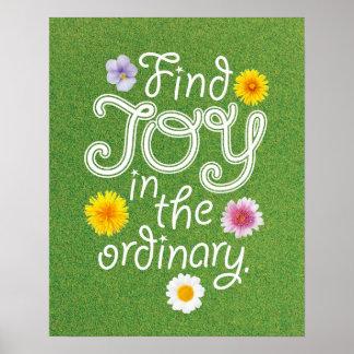 Alegría del hallazgo en el ordinario inspirado impresiones