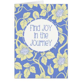 ¡ALEGRÍA del hallazgo en el viaje! Estímulo del Tarjeta De Felicitación