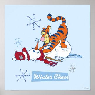 Alegría del invierno de Tigger Póster